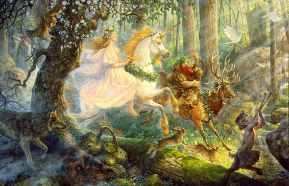 """Scott Gustafson Limited Edition Print:""""The Maiden And The Unicorn"""""""