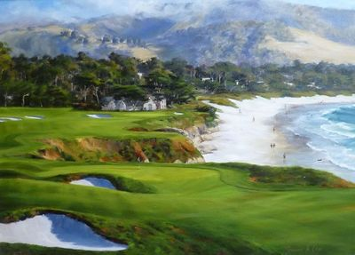 """Shelley Cost Hand Signed and Numbered Limited Edition Embellished Canvas Giclee:""""View from the 9th"""""""