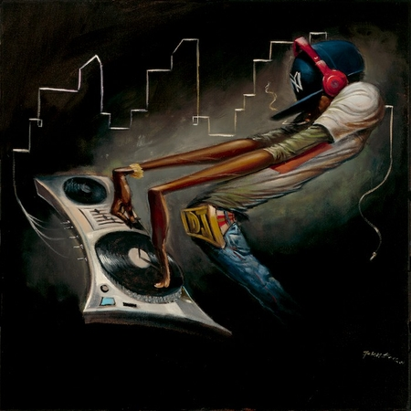 """Frank Morrison Hand Signed and Numbered Limited Edition Giclee:""""The Cut Master"""""""