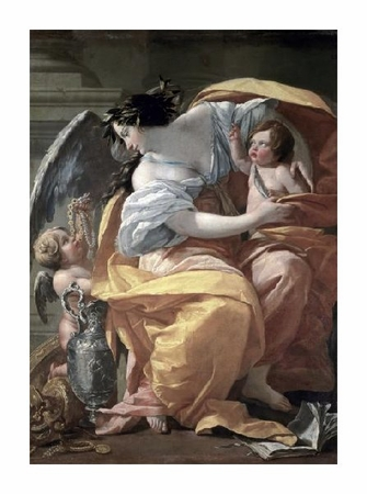 "Simon Vouet Fine Art Open Edition Giclée:""Allegory of Wealthlate 17th C."""