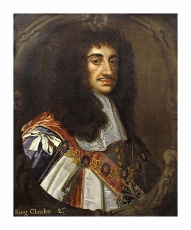 """Sir Peter Lely Fine Art Open Edition Giclée:""""Portrait of King Charles II"""""""