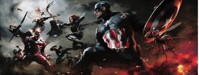 """Stan Lee Signed and Numbered Marvel Fine Art Canvas Giclee:""""Avengers: War Winds"""""""