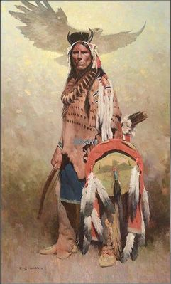 """Z. S. Liang Artist Signed Limited Edition Canvas Giclee:""""Thunderbird Spirits"""""""