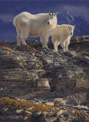 """Daniel Smith Limited Edition Artist Signed Canvas Giclee:""""Maternal Bond"""""""