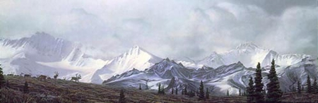 "Stephen Lyman Handsigned & Numbered Limited Edition :"" In the Heart of Alaska"""