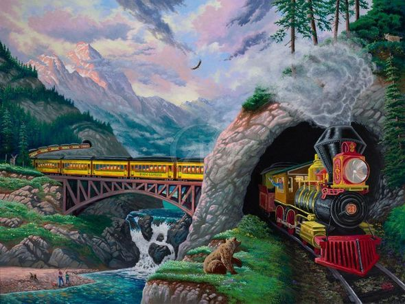 """Zac Kinkade Limited Edition Giclée on Canvas:""""Thunder in the Mountains"""""""