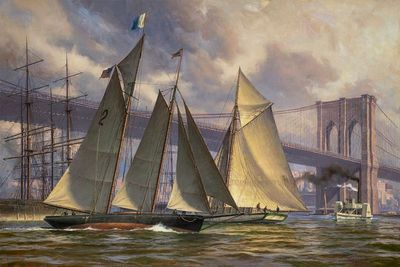 """Don Demers Artist Signed Limited Edition Canvas Giclee:""""PHANTOM, Outbound from New York, c 1890"""""""