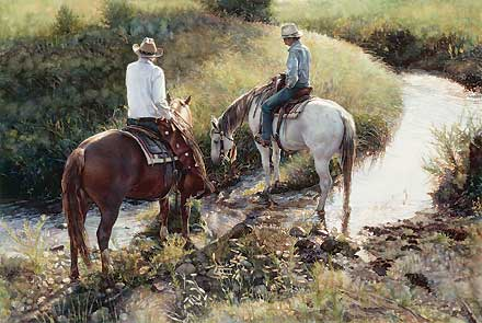 """Steve Hanks Hand Signed & Numbered Limited Edition AP :""""Where the Grass is Greener"""""""