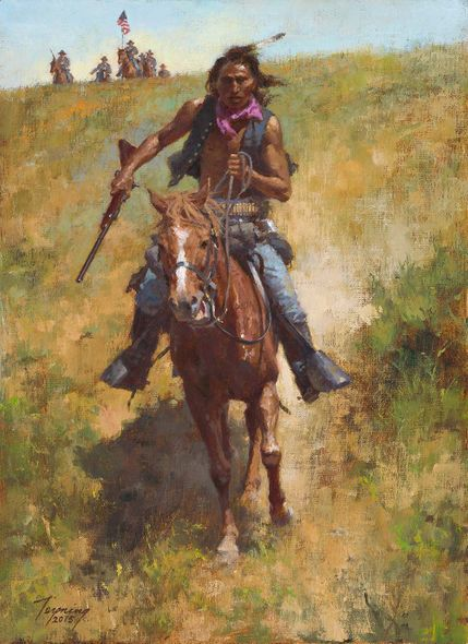 """Howard Terpning Ltd Ed Canvas Giclee:""""Working for the Government"""""""