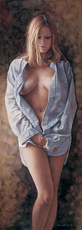 "Steve Hanks Handsigned and Numbered Limited Edition Fine Art Giclée Print: ""His Shirt"""