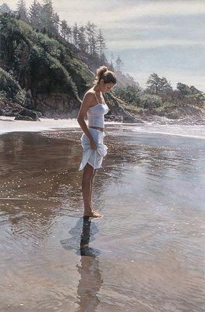 """Steve Hanks Handsigned and Numbered Limited Edition Giclee on Paper :""""New Shoreline"""""""
