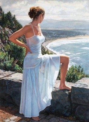 "Steve Hanks Handsigned and Numbered  Limited Edition Giclee on Paper: ""Scenic View"""