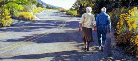 """Steve Hanks Handsigned and Numbered Limited Edition Giclee on Paper:""""Young at Heart """""""