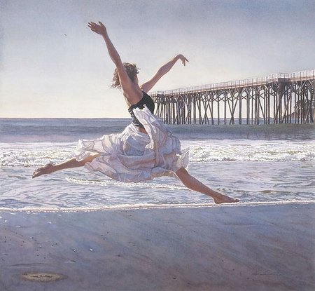 """Steve Hanks Handsigned and Numbered Limited Edition Print :""""To Dance Before the Sea and Sky"""""""