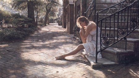 """Steve Hanks Hand Signed and Numbered Limited Edition Print:""""One Step at a Time """""""