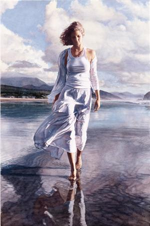 "Steve Hanks Handsigned & Numbered Limited Edition Print:""Moving On"""