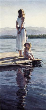 """Steve Hanks Handsigned & Numbered Limited Edition Print:""""Sharing in Silence"""""""
