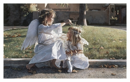 """Steve Hanks Handsigned & Numbered Limited Edition Print:""""Someone to Watch Over Me"""""""