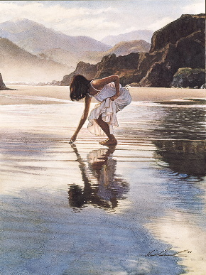 "Steve Hanks Handsigned & Numbered Limited Edition:""Treasure On The Shore"""