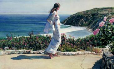 "Steve Hanks Artist Hand Signed and Numbered Limited Edition: ""Beyond the Path"""
