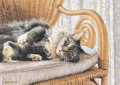 """Sueellen Ross Handsigned and Numbered Ltd Edition Print: """"All Thumbs"""""""
