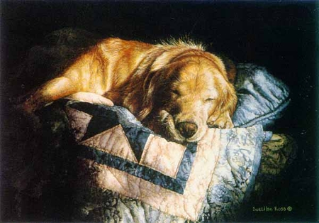 """Suellen Ross Signed Open Edition Print: """"Snooze"""""""