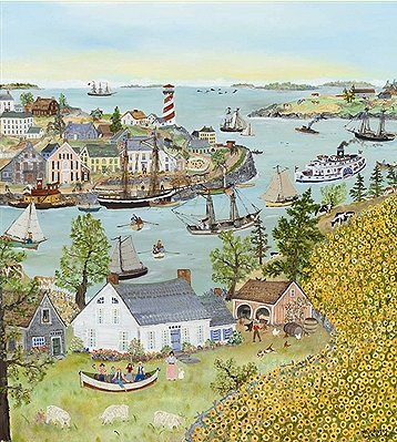 """Will Moses Hand Signed and Numbered Limited Edition Print:""""Sunflower Bay"""""""