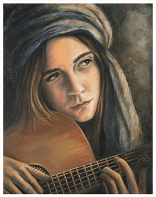 "Tanya Jean Peterson Handsigned and Numberd Giclee on Canvas:""A Winter Song"""