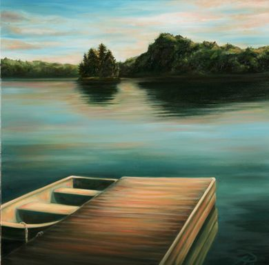 "Tanya Jean Peterson Handsigned and Numberd Giclee on Canvas:""In the Stillness"""