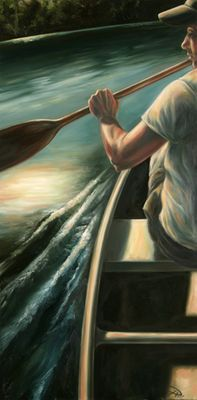 """Tanya Jean Peterson Handsigned and Numberd Giclee on Canvas:""""Morning Explorer"""""""