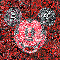 "Tennessee Loveless Signed and Numbered Limited Edition Giclée on Canvas:""MeHandy Mickey"""
