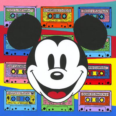 """Tennessee Loveless Signed and Numbered Limited Edition Giclée on Canvas:""""Mickey Mouse - Rewind the Future"""""""