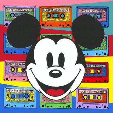 "Tennessee Loveless Signed and Numbered Limited Edition Giclée on Canvas:""Mickey Mouse - Rewind the Future"""
