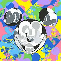 """Tennessee Loveless Signed and Numbered Limited Edition Giclée on Canvas:""""Multi Mickey"""""""