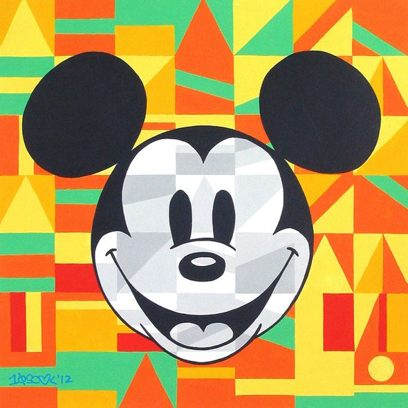 "Tennessee Loveless Signed and Numbered Limited Edition Giclée on Canvas:""Steamboat Willie Unlocked"""