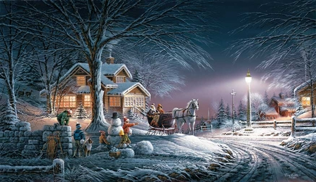 """Terry Redlin 2007 Annual Christmas Print Limited Edition (Unsingned) : """"Winter Wonderland"""""""