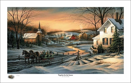 "Terry Redlin 2016 Holiday Limited Edition Print:""Together for the Season"""
