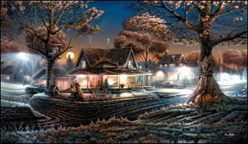 """Terry Redlin American Portrait Limited Edition:Heartfelt Firsts - """"His First Date"""""""