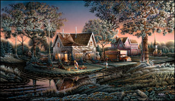 "Terry Redlin American Portrait Limited Edition: Heartfelt Firsts - ""His First Friend"""