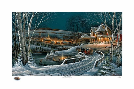 "Terry Redlin Annual Limited Edition Christmas Print - 2009 Print: ""Family Traditions"""