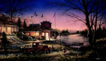 """Terry Redlin Hand signed and Numbered AP Limited Edition Print:""""Total Comfort"""""""