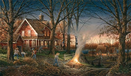 """Terry Redlin Hand signed and Numbered Limited Edition Artist Proof Print: """"Autumn Evening"""""""