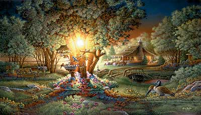 """Terry Redlin Handsigned and Numbered Limited Edition Print:""""The Colours of Spring"""""""