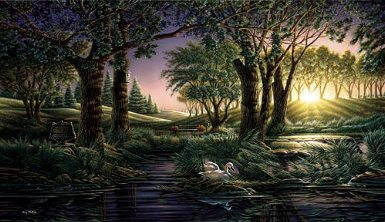 """Terry Redlin Handsigned & Numbered Open Edition Print:""""Morning on the Greens """""""