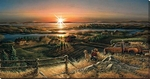 """Terry Redlin Lighted 21x40 Oversize Wrapped LED Canvas: """" Best Friends"""""""