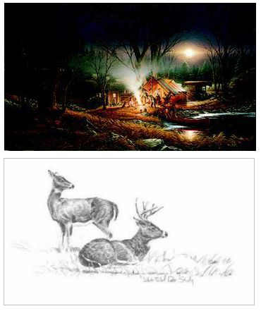 "Terry Redlin Limited Edition Print: ""Campfire Tales"""