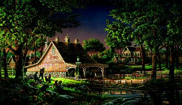 """Terry Redlin Limited Edition Print:""""Family Time"""""""