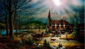 """Terry Redlin Limited Edition Print: """"God Shed his Grace on Thee"""""""