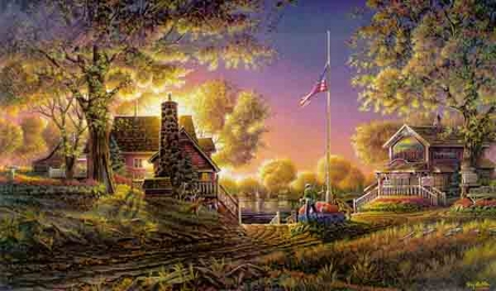 "Terry Redlin Limited Edition Print: ""Good Evening America"""