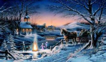 """Terry Redlin Limited Edition Print: """"Sharing The Evening"""""""